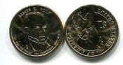 1 доллар 2009 год (Джеймс Нокс Полк 11-й президент) США