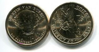 1 доллар 2008 год (Мартин Ван Бурен) США