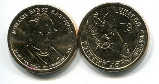 1 доллар 2009 год (Вильям Генри Харрисон) США
