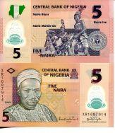 5 найра 2009 год Нигерия