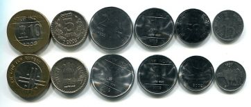 Набор монет Индии (регулярный выпуск)
