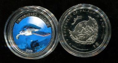 1 доллар 2009 год (черепаха) Палау