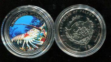 1 доллар 2008 год (креветка) Палау
