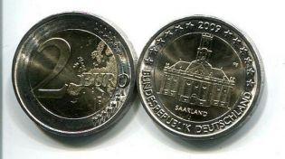 2 евро 2009 год (Саарленд) Германия