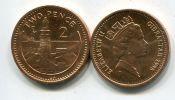 2 пенса 1995 год Гибралтар