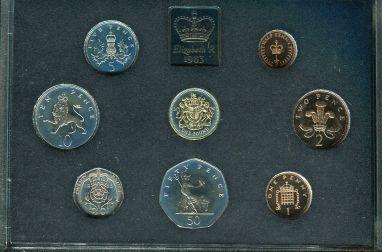 Набор монет Великобритании годовой - 1983 год