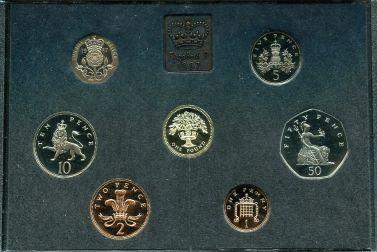 Набор монет Великобритании годовой - 1987 год
