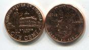 1 цент P 2009 год США Авраам Линкольн
