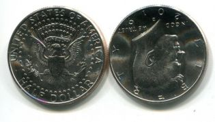 50 центов (1/2 доллара) 2010 год (Кеннеди) США