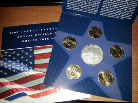 ����� ����� ��� 2008 ��� United States Mint Annual Uncirculated Dollar Coin Set