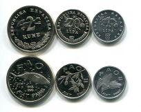 Набор монет Хорватии FAO