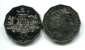 50 центов 2001 год (герб) Австралия