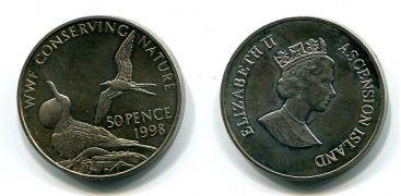 50 пенсов 1998 год Остров Вознесения