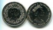 50 пенсов 1997 год Фолклендские острова