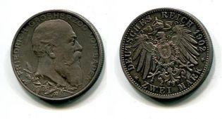 2 марки 1902 год (серебро) Баден