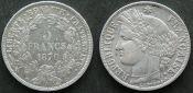 5 франков 1870 год A (серебро) Франция