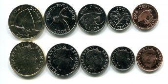 Набор монет Бермуд 2008 год