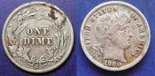 10 центов (1 дайм)  США 1900 год S