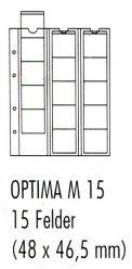 Лист для монет Optima М 15