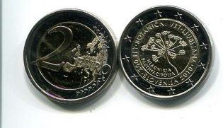 2 евро 2010 год (200 лет Ботаническому саду) Словения