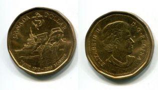 1 доллар 2010 год 100 лет флоту Канада