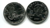 25 центов 2007 год (паролимпиада кёрлинг) Канада