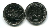 25 центов 2008 год (сноуборд) Канада