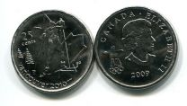 25 центов 2009 год (лыжи) Канада