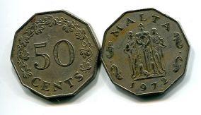 50 центов Мальта