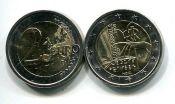 2 евро 2009 год (Л. Брайль) Италия