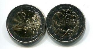 2 евро 2010 год (Де Голь) Франция