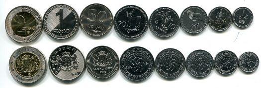 Набор монет Грузии 1993, 2006 год