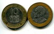 40 шиллингов (биметалл) Кения