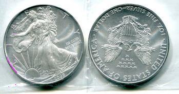 1 доллар 2008 год (серебро) США