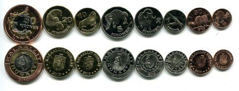Набор монет Гренландии 2010 год