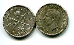 1 флорин 1951 год (юбилей) Австралия