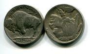 5 центов года разные (бизон) США