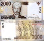 2000 рупий 2009 год Индонезия
