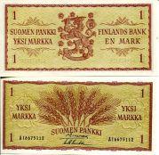 1 марка 1963 год Финляндия