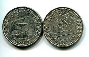 100 эскудо 1987 год Португалия