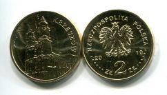 2 злотых 2010 год KRZESZOW Польша