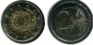 2 евро 2010 год (200 лет со дня рождения Камилло Кавура) Италия