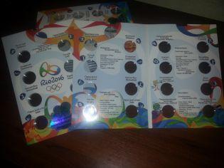 Альбом для монет 1 реал Олимпиады в Рио 2016, Бразилия
