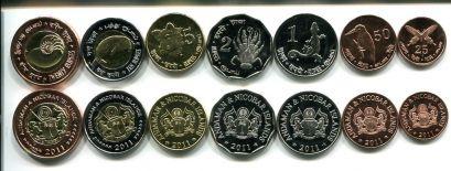 Набор монет Андаманских и Никобарских островов 2011 год
