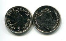 5 пенсов 1989 год Гибралтар