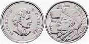25 центов год Ветеранов Канада 2005