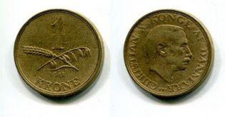 1 крона Дания 1942 год