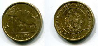 1 песо 2011 год (броненосец) Уругвай
