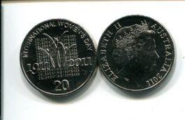 20 центов 2011 год (100 лет международному женскому дню) Австралия
