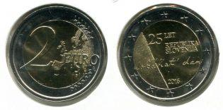 2 евро 2016 год Независимость Словения